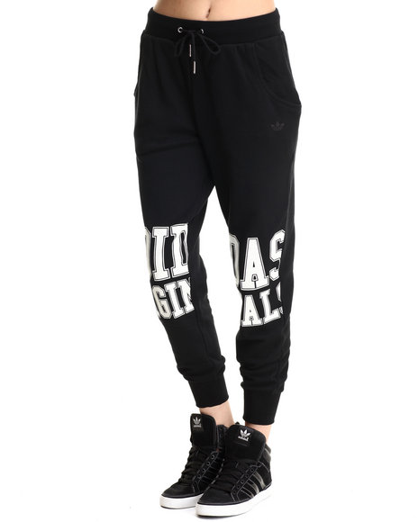 Adidas - Women Black Loose Track Sweat Pants