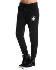 Bottoms - Cuffed Slim Track Sweat Pants