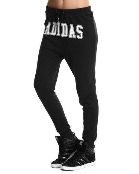 Adidas - Women Black Hip Hop Track Sweat Pants