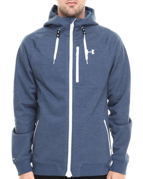 Under Armour - Men Blue Coldgear Infrared Dobson Hooded Jacket - $125.00