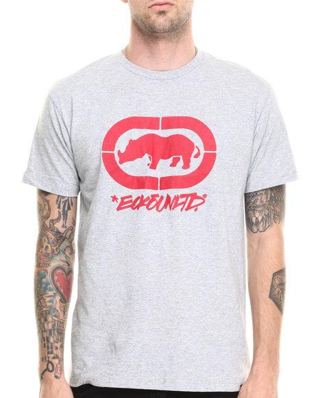 Ecko - Men Grey Felt Script Logo T-Shirt - $14.99