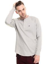 Shirts - Henley w/ Poplin Contrast