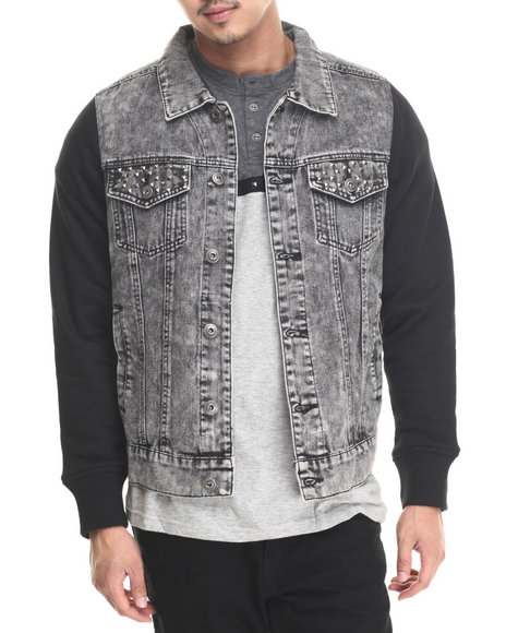 Mens Grey Denim Jacket