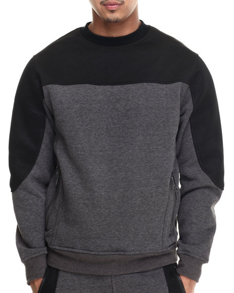 Black,Grey Pullover Sweatshirts
