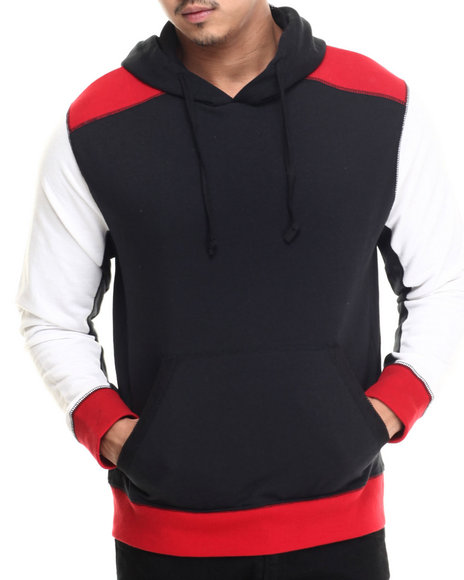 Buyers Picks - Men Black Jordan Tri Block Pullover Hoody