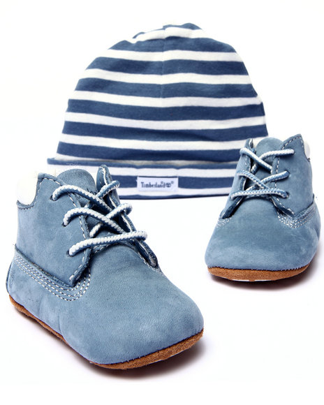 Timberland - Boys Blue Crib Bootie With Hat