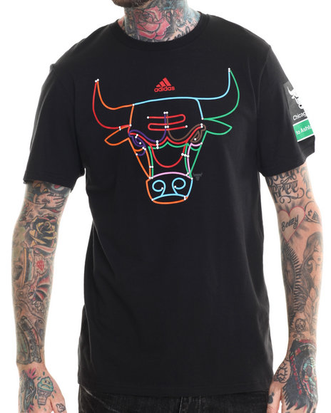 Adidas - Men Black Chicago Bulls Take A Ride Tee (Fitted Fit)
