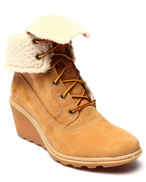 Timberland - Women Wheat Timberland Earthkeepers Amston Roll Top Boots