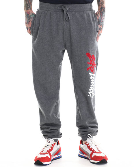 Ecko - Men Charcoal Fleece Sweatpants