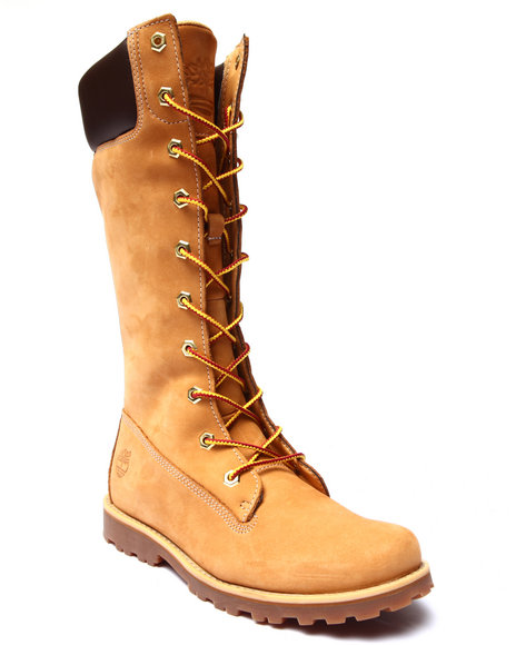 Timberland - Girls Wheat Asphalt Trail Girls Classic Tall Lace Up Boots