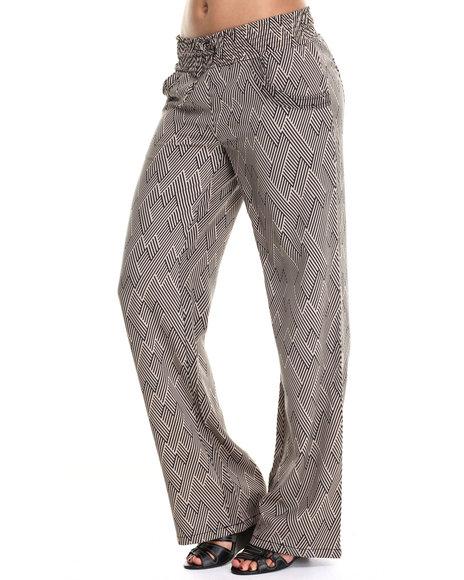 Ur-ID 186424 Freestyle - Women Black,Wheat Palazzo Printed Pant
