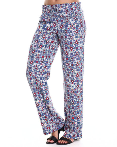 Ur-ID 186434 Freestyle - Women Blue,Red Palazzo Printed Pant