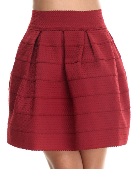 Freestyle - Women Dark Red Cupcake Stretchy Skirt