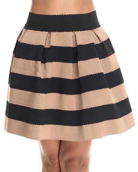 Freestyle - Women Black,Tan Cupcake Stretchy Skirt
