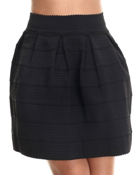 Freestyle - Women Black Cupcake Stretchy Skirt