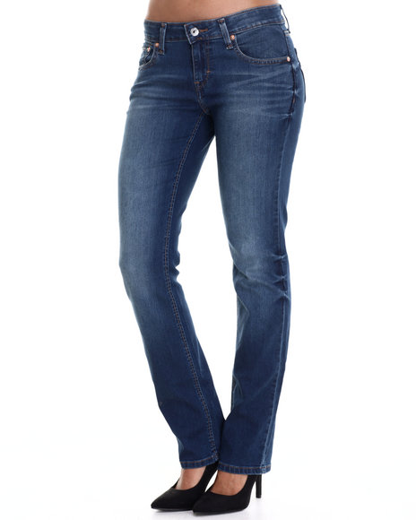 Levi's - Women Blue 518 Straight Leg Jean