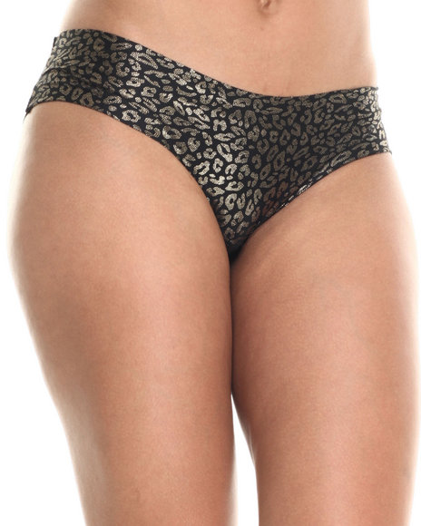 Drj Lingerie Shoppe - Women Black,Gold Seamless Foil Printed Panties