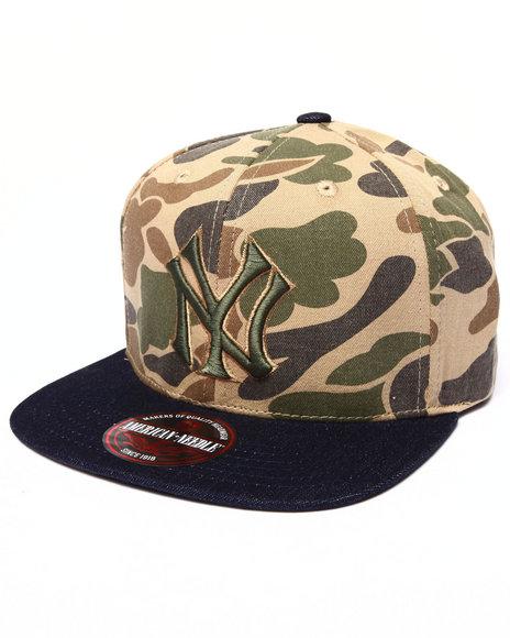 American Needle Men New York Yankees Dillon 2 Strapback Hat Camo - $19.99