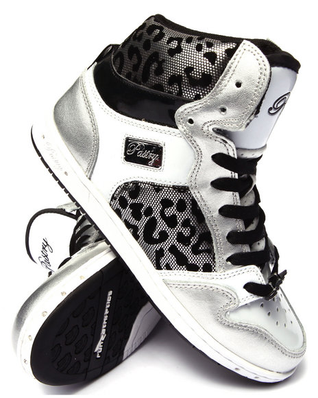 4a7ff891699 Ur-ID 186550 Pastry - Women Silver Glam Pie Foil Cheetah Sneaker by Pastry