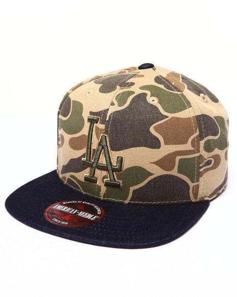 American Needle Men Los Angeles Dodgers Dillon 2 Strapback Hat Camo - $15.99