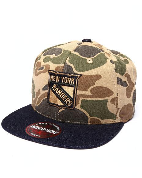 American Needle Men New York Rangers Dillon 2 Strapback Hat Camo - $15.99