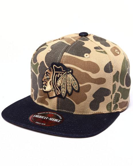 American Needle Men Chicago Blackhawks Dillon 2 Strapback Hat Camo