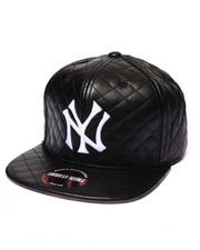 American Needle - New York Yankees Faux Leather Quilted Strapback hat