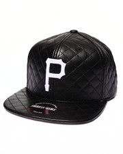 Men - Pittsburgh Pirates Faux Leather Quilted Strapback hat
