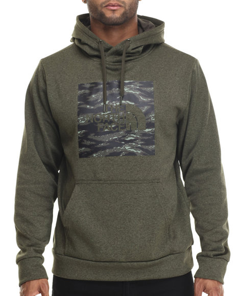 The North Face - Men Olive Tiger Camo Red Boxsurgent Pullover Hoodie