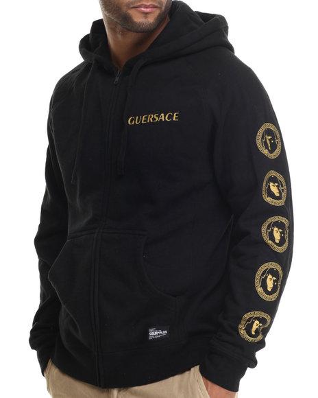 Ssur - Men Black Guersace Zip Hoodie