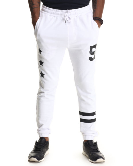 Buyers Picks - Men White Athletica Terry Cloth Jogger Pants