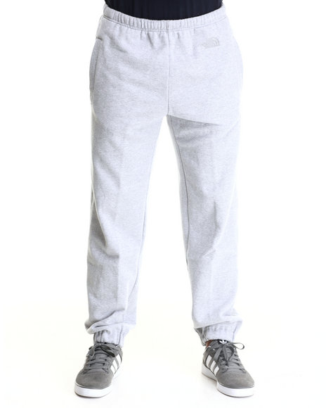 The North Face - Men Light Grey Classic Tonal Logo Sweatpants