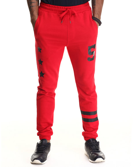 Buyers Picks - Men Red Athletica Terry Cloth Jooger Pants
