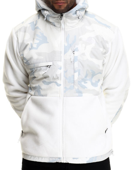 The North Face - Men White Denali Hoodie