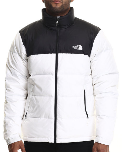 The North Face - Men White Nuptse Jacket