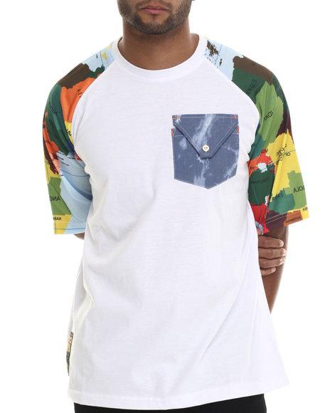 Eight 732 - Men White Map T-Shirt