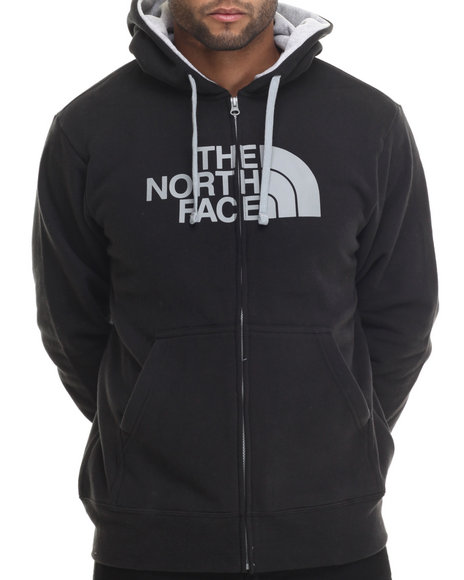 The North Face - Men Black Half Dome Full Zip Hoodie