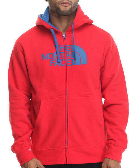 The North Face - Men Red Half Dome Full Zip Hoodie