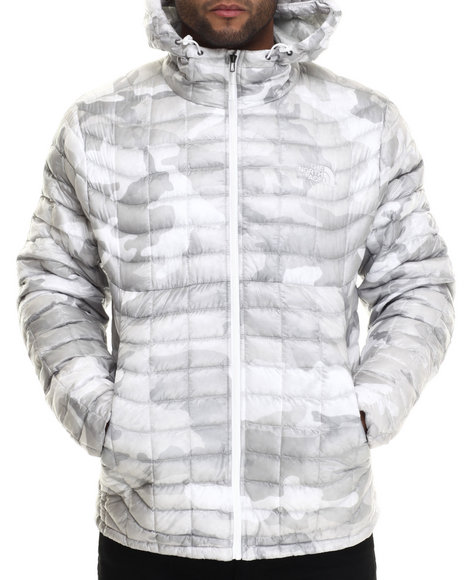 The North Face - Men White Thermoball Hoodie Jacket