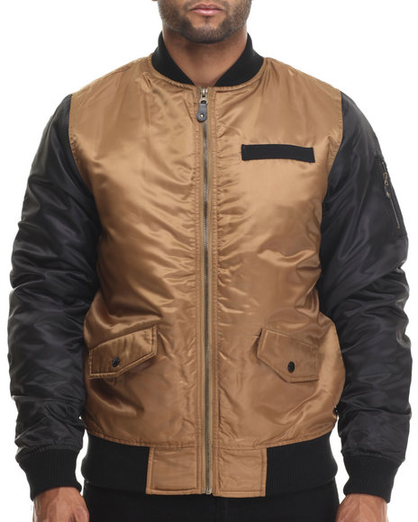 Buyers Picks - Men Khaki Diamond Quilted Flight Jacket