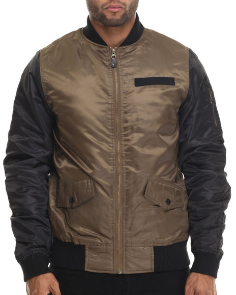 Buyers Picks - Men Olive Diamond Quilted Flight Jacket - $35.99
