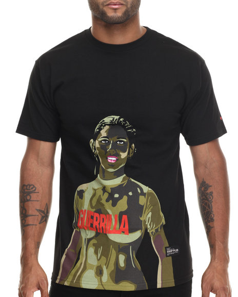 Ur-ID 186595 SSUR - Men Black Guerrilla Girl Tee