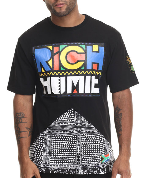 Eight 732 - Men Black Rich Homie T-Shirt