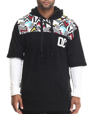 Buyers Picks - Colored Zebra Retro Print S/S Pullover Hoodie