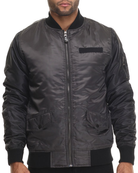 Buyers Picks - Men Charcoal Diamond Quilted Flight Jacket - $25.99
