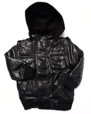 Boys - FAUX LEATHER UTILITY JACKET (2T-4T)