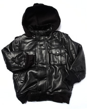 Boys - FAUX LEATHER UTILITY JACKET (4-7)