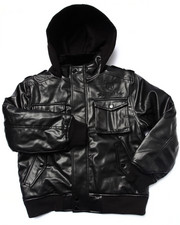 Boys - FAUX LEATHER UTILITY JACKET (8-20)