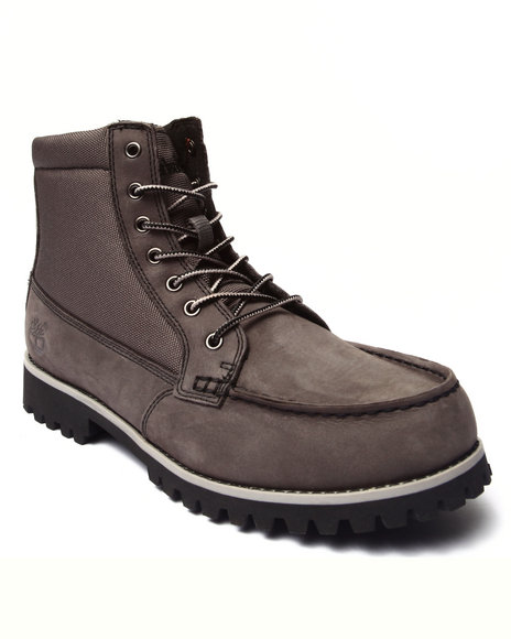 Timberland - Men Grey Oakwell 8 Eye Moc Toe Boots