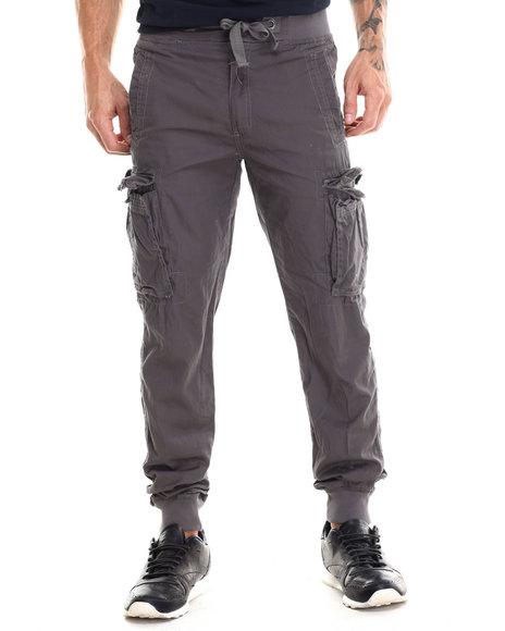 Buyers Picks - Men Grey Lt Twill Cargo Jogger Pants